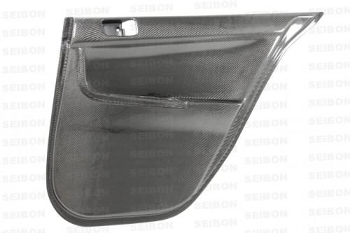 2008-2010年三菱EVO X的亮面碳纖維車門內板(後)