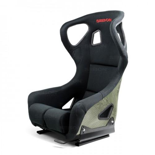 FC款式碳纖Kevlar賽車椅 - 黑  (帶耳朵)