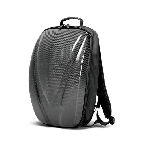 碳纖維硬殼雙肩背包 - 黑色