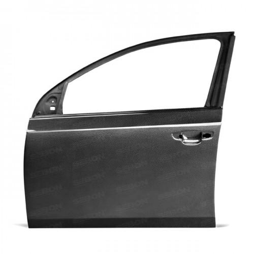 2010-2014年福斯GOLF / GTI / R的OEM款式亮面碳纖維前車門*