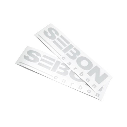 SEIBON CARBON商標貼紙 - 銀色反光