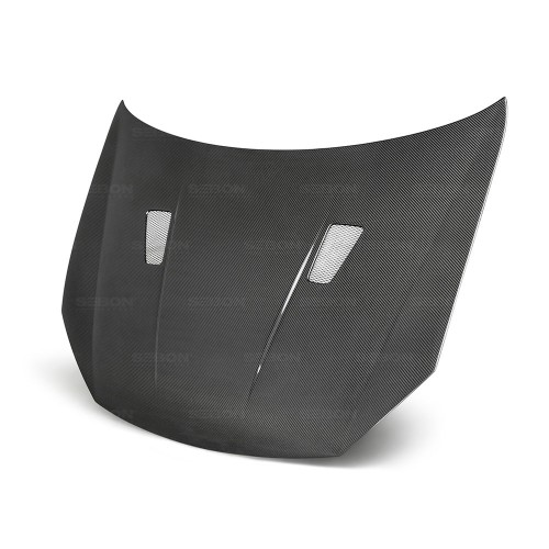 2010-2014年福斯GOLF / GTI / R的TM款式亮面碳纖維引擎蓋 (無車標款)
