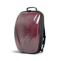 碳纖維硬殼雙肩背包 - 紅色